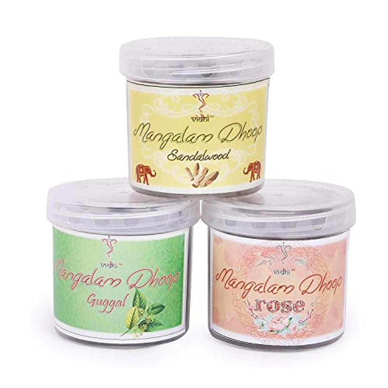 少しコイルに対応するVidhi Mangalam Dhoop Cones Boxes (Rose, Sandal and Guggal) - Pack of 180