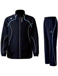 DESCENTE(デサント) メンズ トレーニング ジャケット?パンツ上下セット ネイビー×ブルー DTM1910B-DTM1910PB-UNB