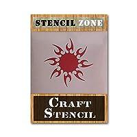 Tribal Sun Mylar AIRRUSH ペインティング ウォールアート ステンシル A2 Stencil - Large SZ180420191845