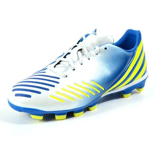 adidas(アディダス) サッカー スパイク プレデター アブソラド キッズ ジュニア ランニングホワイト/ビビッドイエローS13/プライムブルーS12 absolado-G64913 19.0cm
