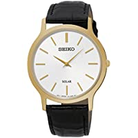 Seiko Men SUP872P Year-Round Analog Solar Powered Black Watch