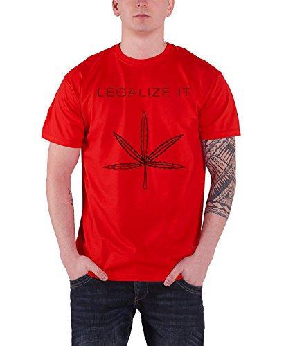 Peter Tosh ピーター・トッシュ Legalize It Leaf logo リーガライズ・イット・リーフ・ロゴ メンズ レッドTシャツ 全サイズ