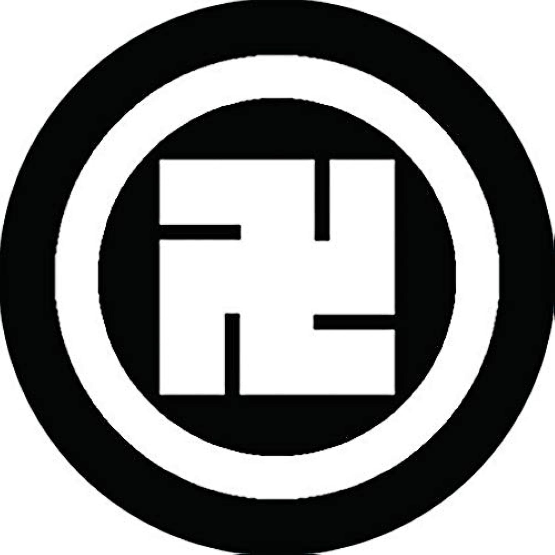 家紋シール 丸に卍紋 布タイプ 直径40mm 6枚セット NS4-0834