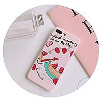 超可愛い携帯ケースiPhoneのために6s/7p/8p/x/xr/xsmaxかわいいレディースピンクの柔らかいストロベリーケーキ携帯ソフトケース,7p/8p-iPhoneのために
