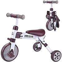 Cyfie 三輪車 折り畳み式 自転車 子供 収納 持ち運び易い 軽量 誕生日 お祝い 車 おもちゃ 乗用 (ブラウン)
