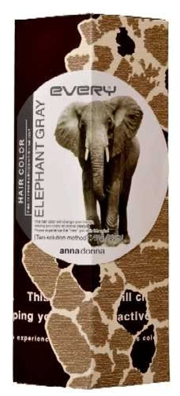 百年豆知覚するアンナドンナ エブリ ヘアカラー (エレファントグレー) 1剤40g 2剤80ml 【HTRC5.1】