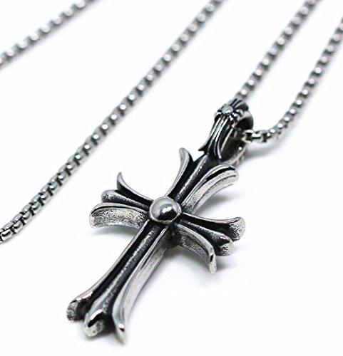 [해외]BellePlage (베루뿌라제) 남성 목걸이 크로스 십자가 펜던트 타이니 크로스 체인 포함/BellePlage (Belpraje) Men`s necklace Cross cross pendant with Tiny cross chain