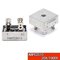FidgetGear KBPCシリーズブリッジ整流器KBPC608 / 610/1010/1510/2510/3510/5010 6〜50 A KBPC2510 25A / 1000V