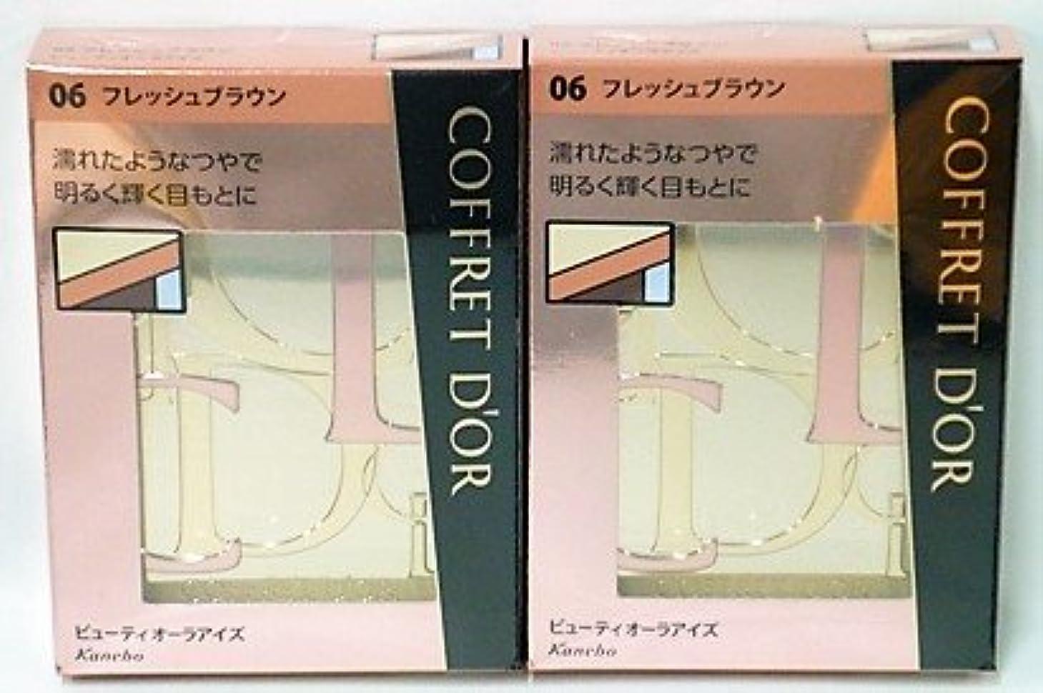 略語外国人縞模様の<2個セット>コフレドール ビューティオーラアイズ 06 フレッシュブラウン 3.5g入り×2個