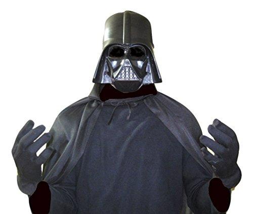全身黒ずくめ 悪のヒーロー 【ダースベイダー】に変身! マスク+黒マント コスプレ 衣装 KOT-32 マスク+黒マント