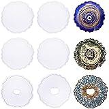 ResinWorld 6 Pack Geode Coaster Molds for Resin, Irregular Resin Coaster Silicone Mold, Coaster Epoxy Resin Molds for Making