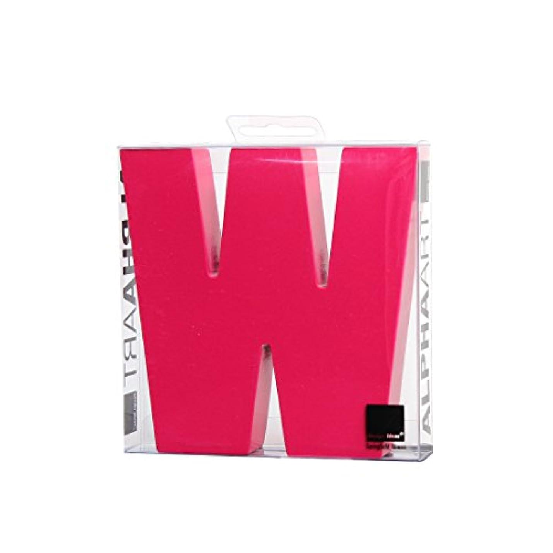ステープル控えめな雲カメヤマキャンドルハウス アルファベットブロック カラフル  アルファアートラージW 「 ピンク 」