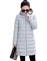 SHUOSEN冬 ダウンジャケットロング 中綿コートレディース アウター 軽量 防風 防寒 細身トップス シンプル 女性用 通勤通学 綿入れ アウトドア 暖かい ロング コート