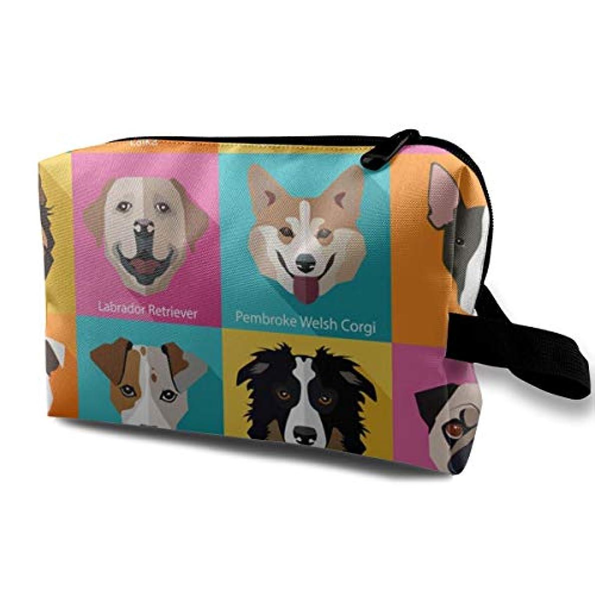 兵器庫レジスカートPopular Breeds Of Dogs 収納ポーチ 化粧ポーチ 大容量 軽量 耐久性 ハンドル付持ち運び便利。入れ 自宅?出張?旅行?アウトドア撮影などに対応。メンズ レディース トラベルグッズ