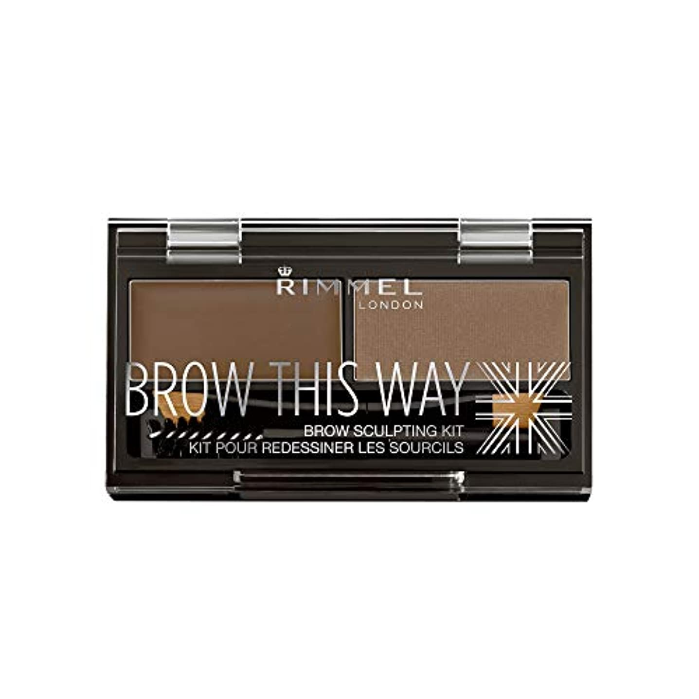 すべて蒸留する寄り添うRIMMEL LONDON Brow This Way Brow Sculpting Kit - Medium Brown (並行輸入品)