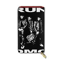 RUN DMC 小型 人気 キャンバス 財布 大容量 長財布 ジッパー付き 小銭入れ 男女兼用
