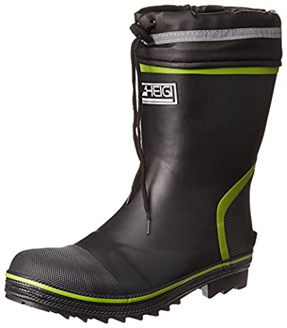 [ヘイギ] 安全長靴 セーフティーブーツ ショートタイプ インソール付き HG-2803 ブラック 26 cm
