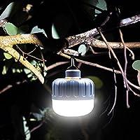 YZUEYT 5W屋外ポータブル15 LED防水キャンプテントナイトランプ充電式緊急光