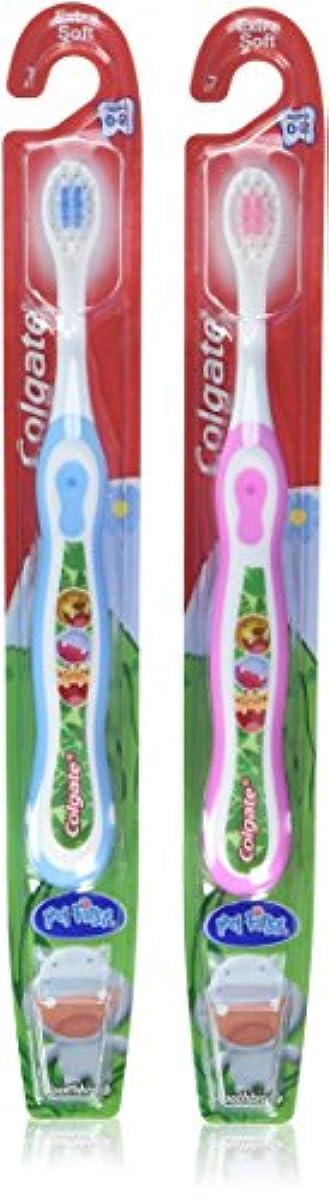 スケルトン巻き取り付属品Colgate 子供の私の最初の歯ブラシ、ソフト、年齢0-2(色は異なります)1 Eaは(6パック)
