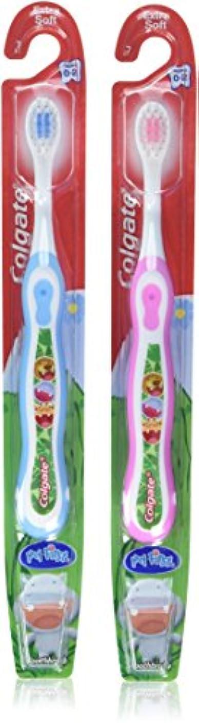 嫌がらせ略す革新Colgate 子供の私の最初の歯ブラシ、ソフト、年齢0-2(色は異なります)1 Eaは(6パック)