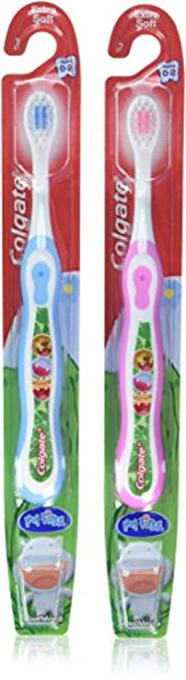肌寒いシステムマディソンColgate 子供の私の最初の歯ブラシ、ソフト、年齢0-2(色は異なります)1 Eaは(6パック)