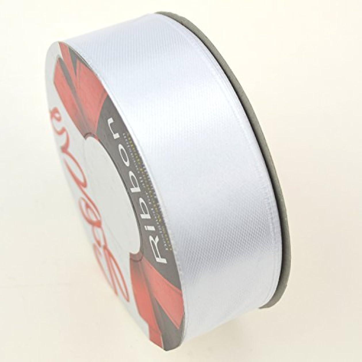 誇張乳製品深さNippontstar 花束リボン DIY用サテンリボン 幅25mm×長さ22m工芸品 飾り リボン (25mm, 白色)
