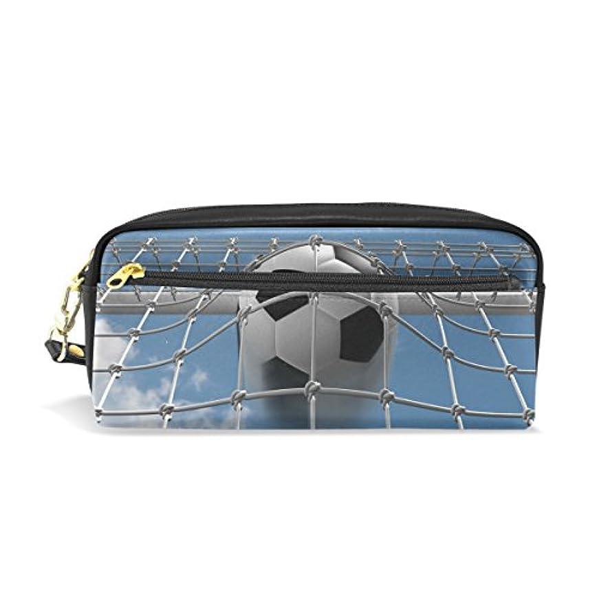 グレードワードローブ収まるAOMOKI ペンケース 化粧ポーチ 小物入り 多機能バッグ レディース サッカー ブラック