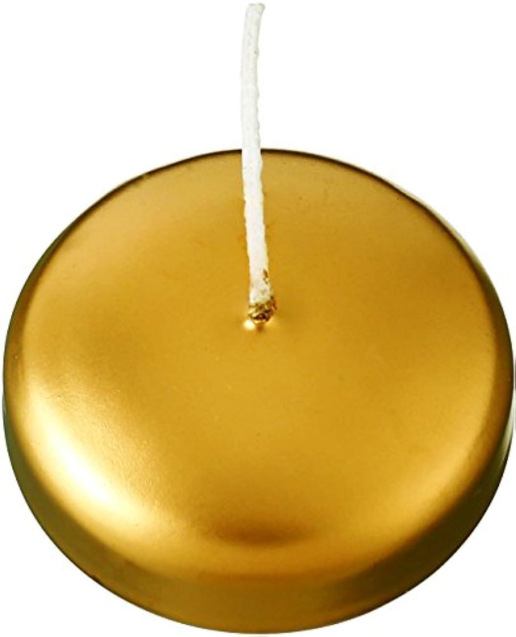 セーブ相互接続型カメヤマキャンドルハウス フローティングキャンドル50 ゴールド 12個セット
