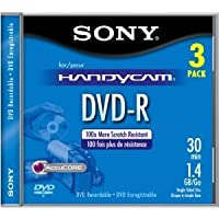 Sony 8-cm。dvd-r-camera 3 – Pk。