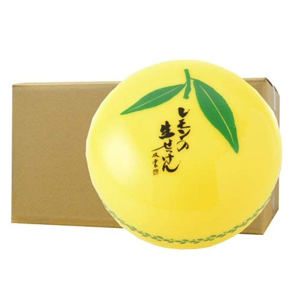 放棄大使毒美香柑 レモンの生せっけん 洗顔石けん 無添加 スパチュラ?泡立てネット付 大容量 120g×24個ケース