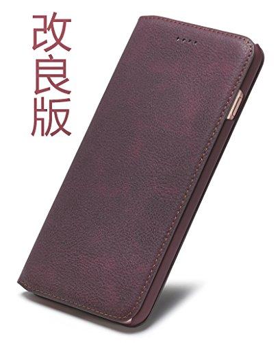 Tindon iPhone8 ケース 手帳型 レザー 革 薄...