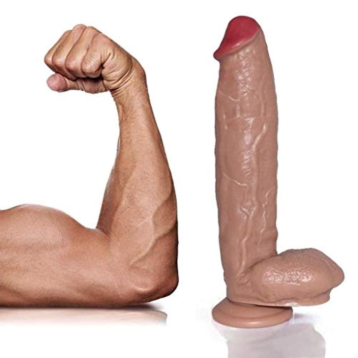 慣れているこれらインデックス女性男性初心者の研究11.8インチのマッサージおもちゃ用吸盤付きリアルな防水大型PVC