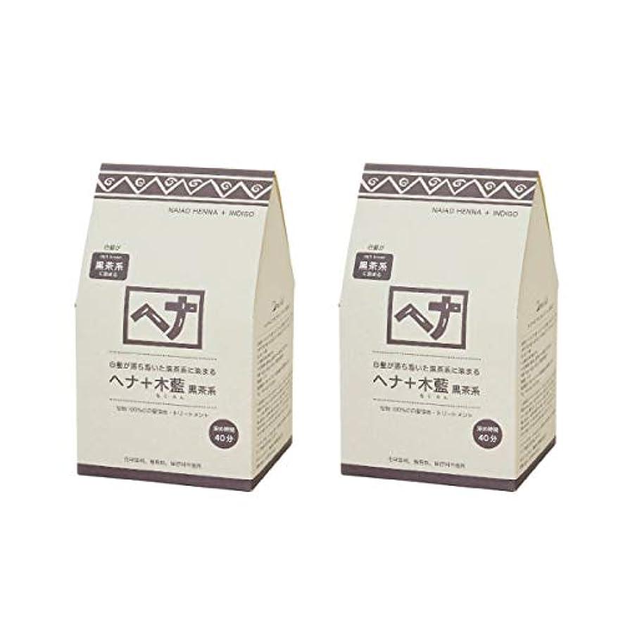 コア生産的運動ナイアード ヘナ+木藍(黒茶系)400g(100g×4袋)×2個セット+アレッポの石鹸1個プレゼント