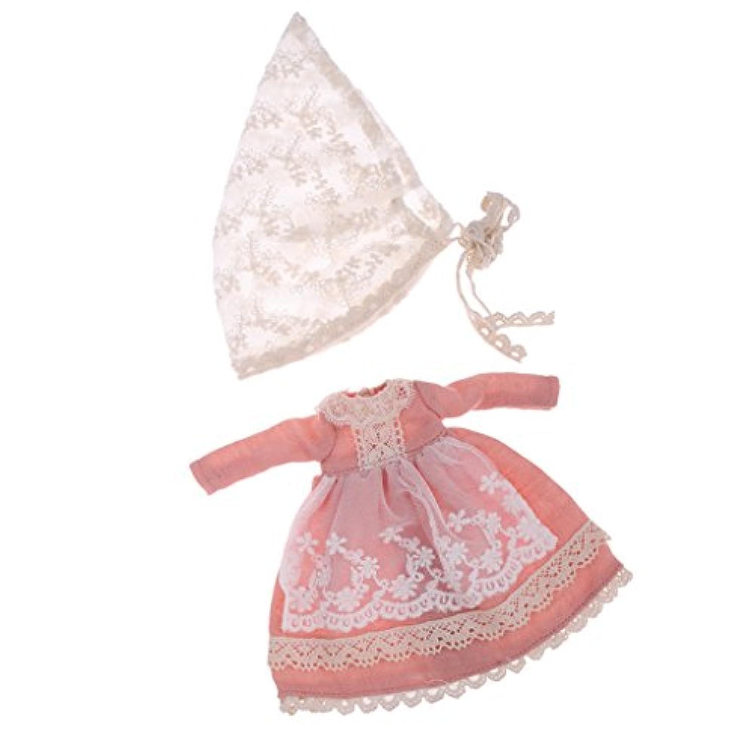 Blesiya 可愛い ワンピース スカート ドレス 1/6スケールブライスアゾンリッカドール用 ピンク