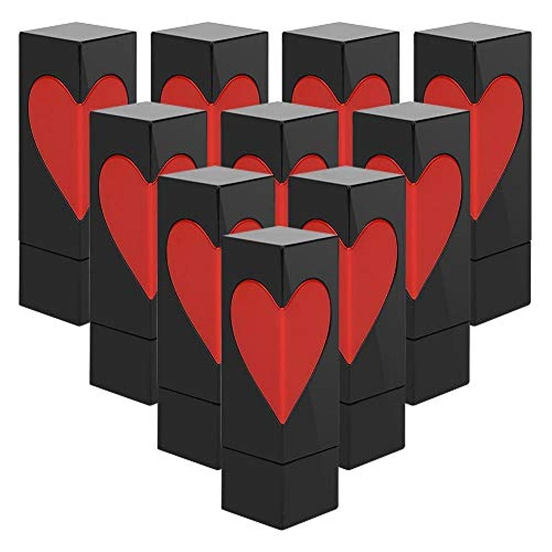 確率刃砦Semmeの空の口紅の管、愛の心の空のDIYの口紅の容器の自作の口紅型のリップ?クリームの管(テンオップバッグ)