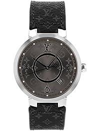 [ルイヴィトン] LOUIS VUITTON 腕時計 Q1DM0 タンブール スリム エクリプス SS/ブラックレザー グレー文字盤 [中古品] [並行輸入品]
