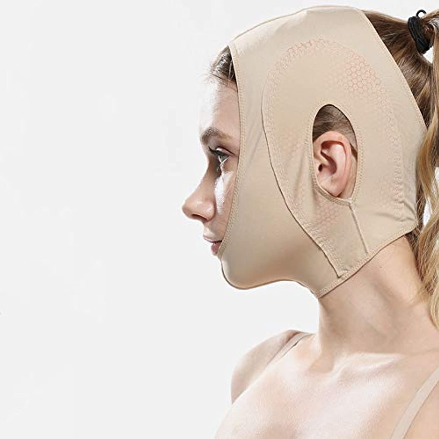 ショートカット平野横たわるスモールvフェイスマスク、しわvフェイスバンデージ/ビューティースモールvフェイスアーティファクト/リフティング引き締め(カラー)