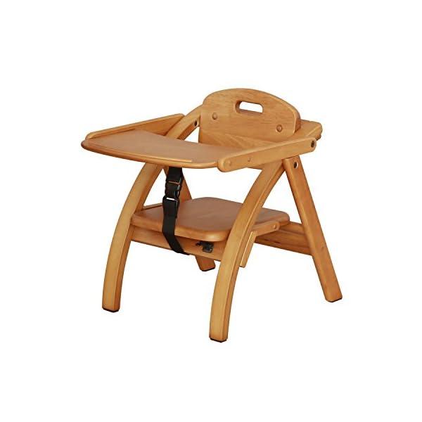 大和屋 アーチ木製ローチェア N ライトブラウン...の商品画像