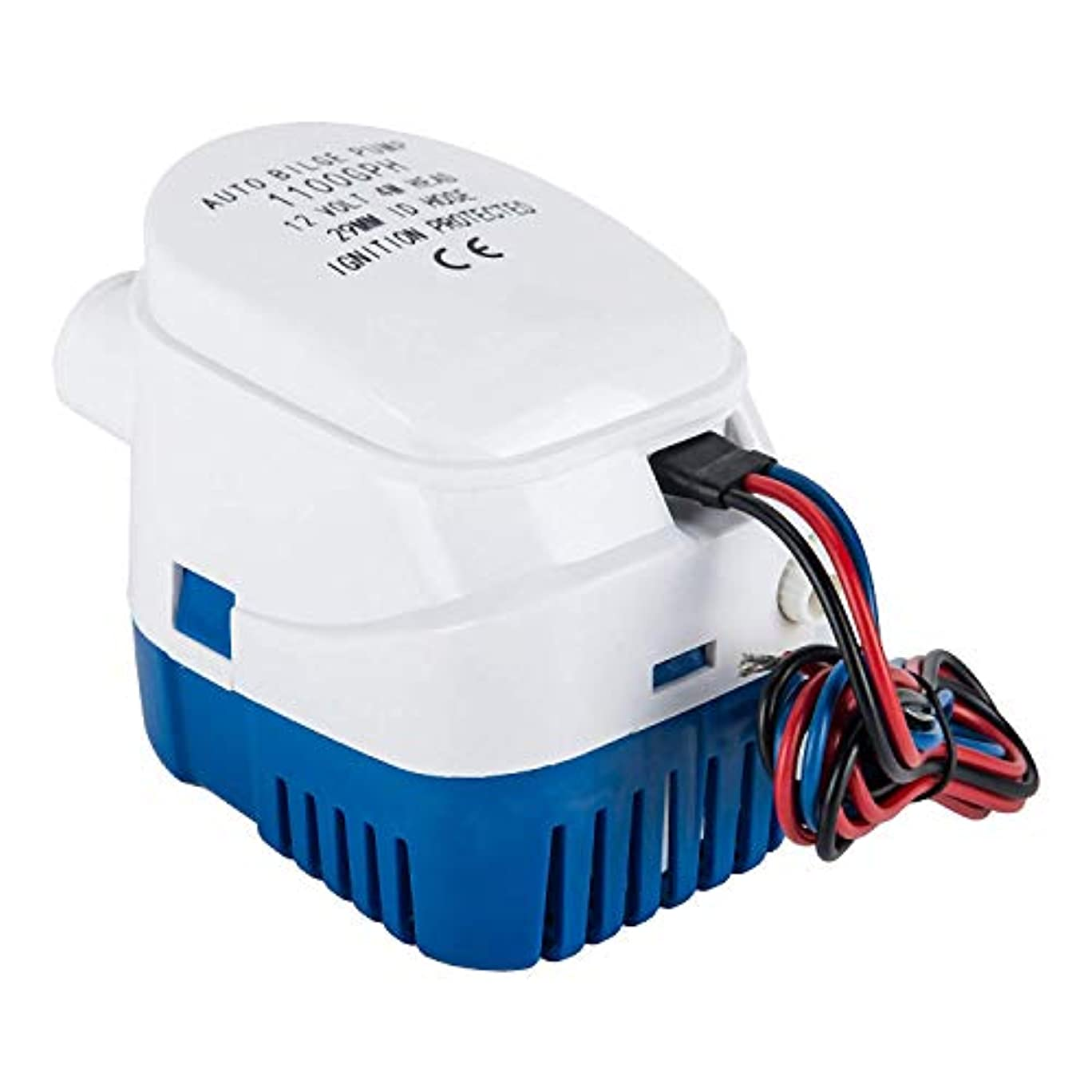 続けるスクリーチくまCUHAWUDBA 潜水用自動ボートのビルジポンプ1100GPH電気ボートの配管 自動12V