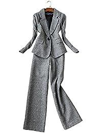 ファションヤ スーツ セットアップ アンクル丈 パンツスーツ2点セット ワイドパンツ ビジネス 通勤 スーツ ママ おしゃれ 冬 リクルート チェック 大きいサイズ レディース