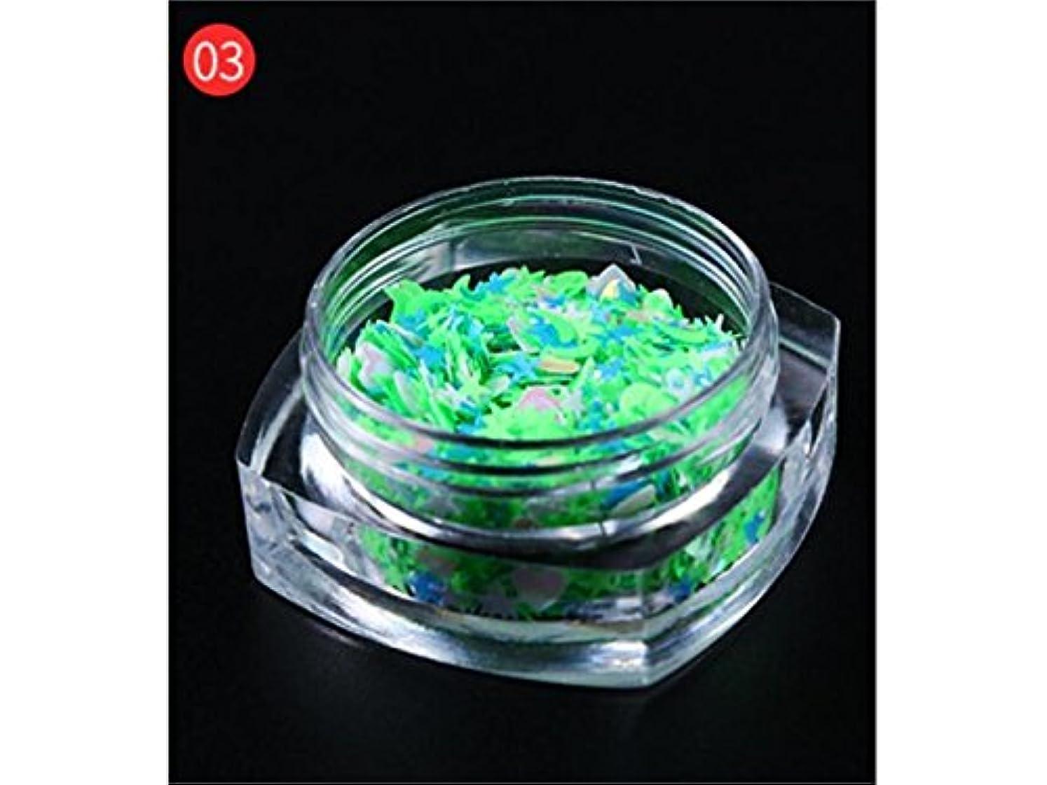 ピッチデザイナーミトンOsize DIYのキラキラ輝く星のスパンコールのためのマルチシェイプのキラキラ色とりどりのカラフルなスパンコールはネイルアートと装飾(ライトグリーン)