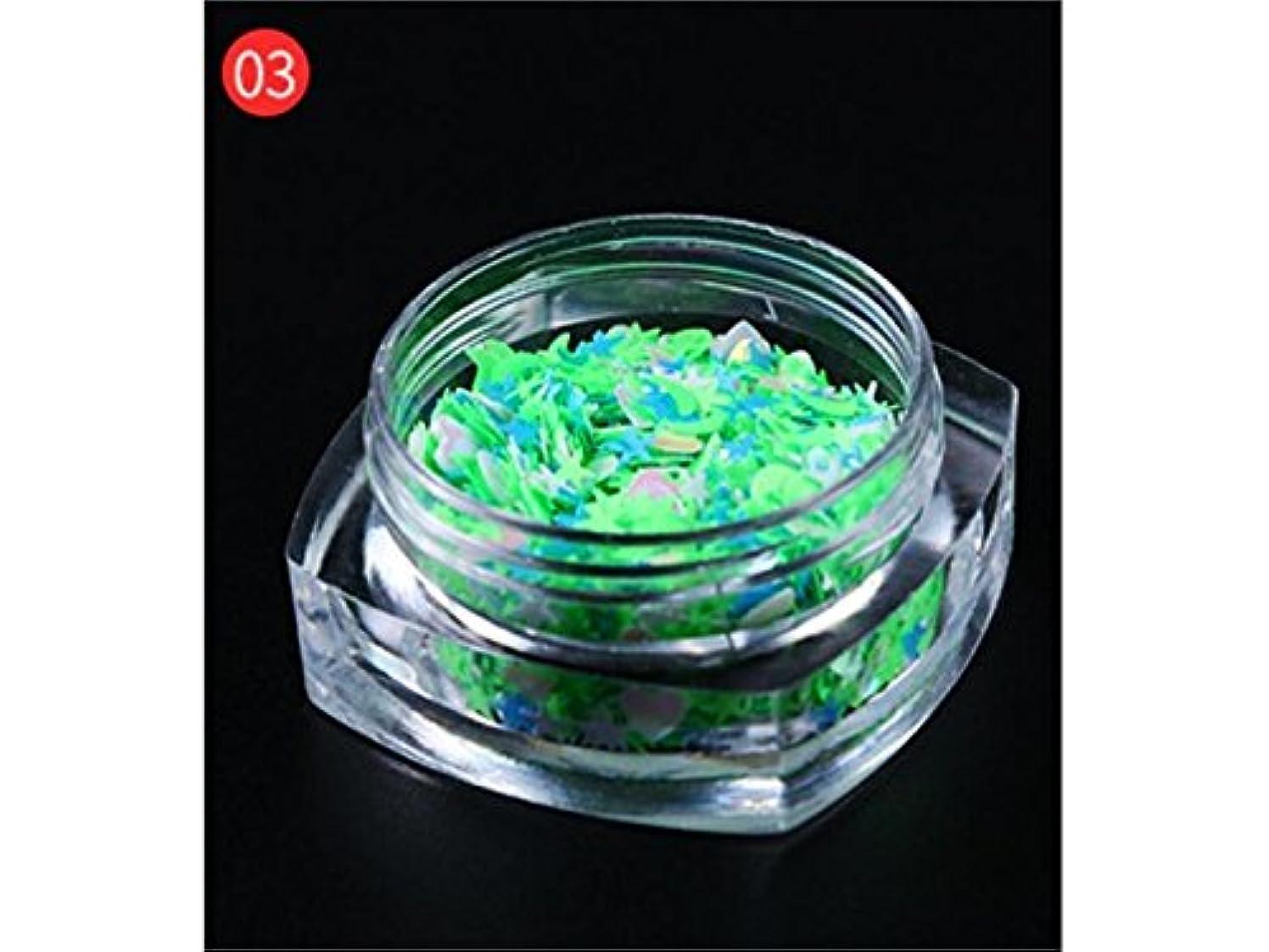 似ている栄光スズメバチOsize DIYのキラキラ輝く星のスパンコールのためのマルチシェイプのキラキラ色とりどりのカラフルなスパンコールはネイルアートと装飾(ライトグリーン)