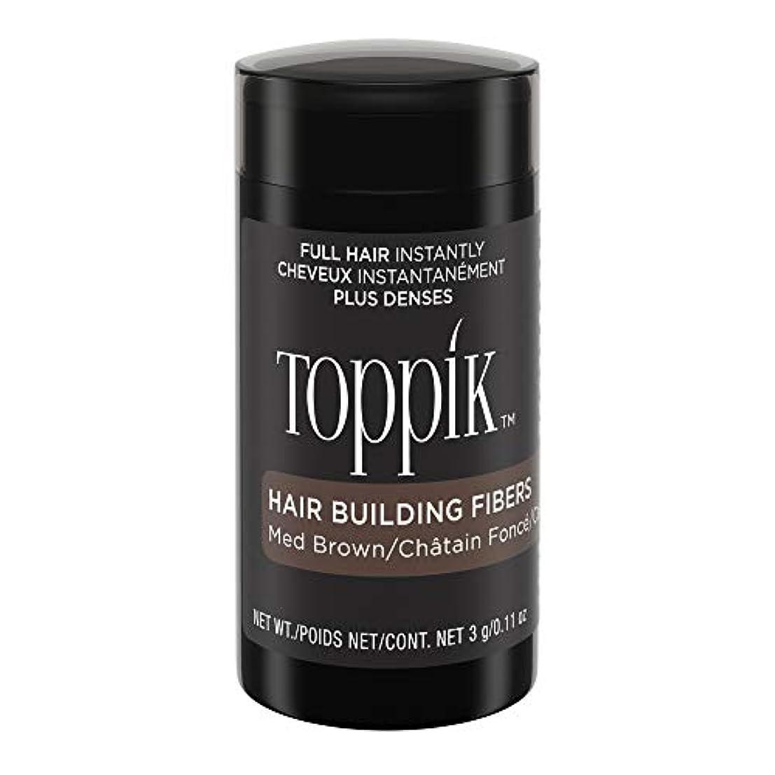 抜粋ピストル血まみれのTOPPIK 髪のビル繊維、0.11オンス 0.11オンス ミディアムブラウン