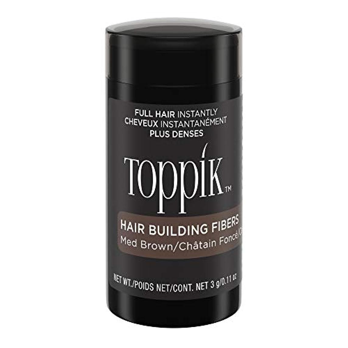 ボット労働遠いTOPPIK 髪のビル繊維、0.11オンス 0.11オンス ミディアムブラウン