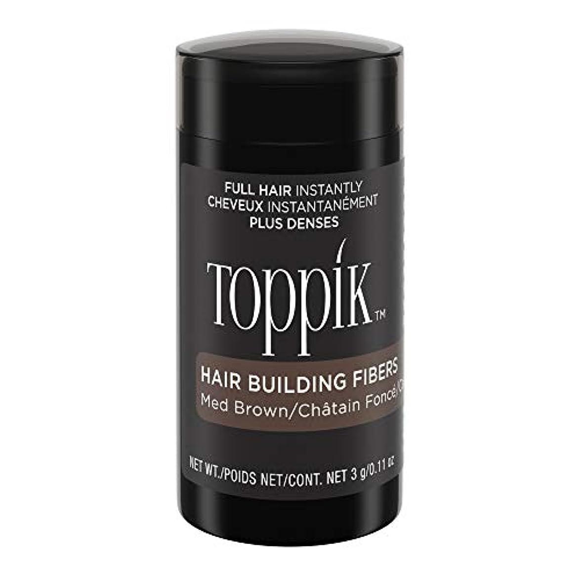 田舎者カナダ不適切なTOPPIK 髪のビル繊維、0.11オンス 0.11オンス ミディアムブラウン