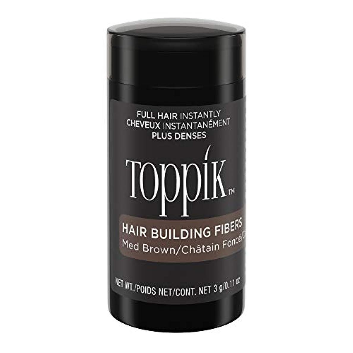 共同選択酸っぱいハンバーガーTOPPIK 髪のビル繊維、0.11オンス 0.11オンス ミディアムブラウン