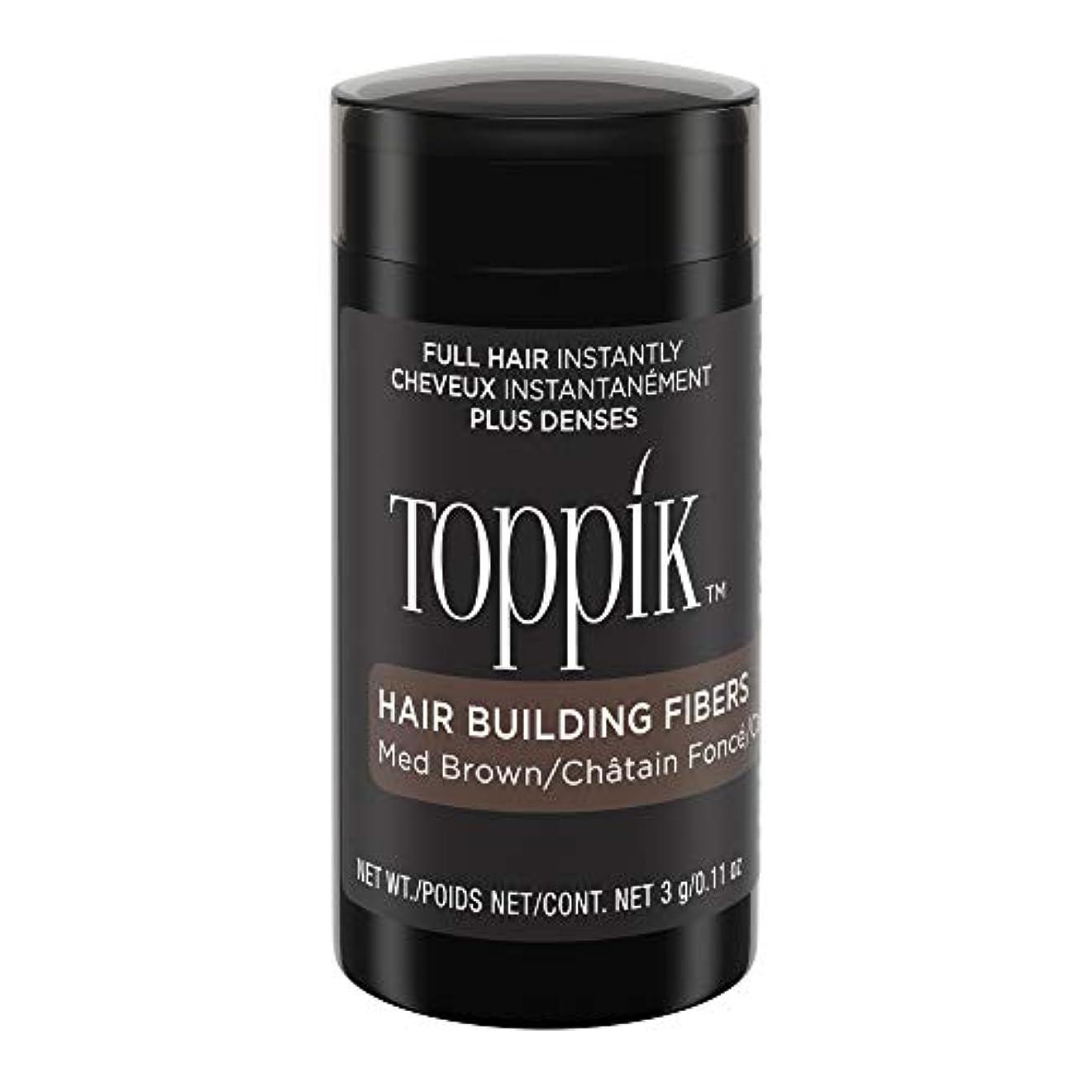 アジテーションテレビを見る助けになるTOPPIK 髪のビル繊維、0.11オンス 0.11オンス ミディアムブラウン