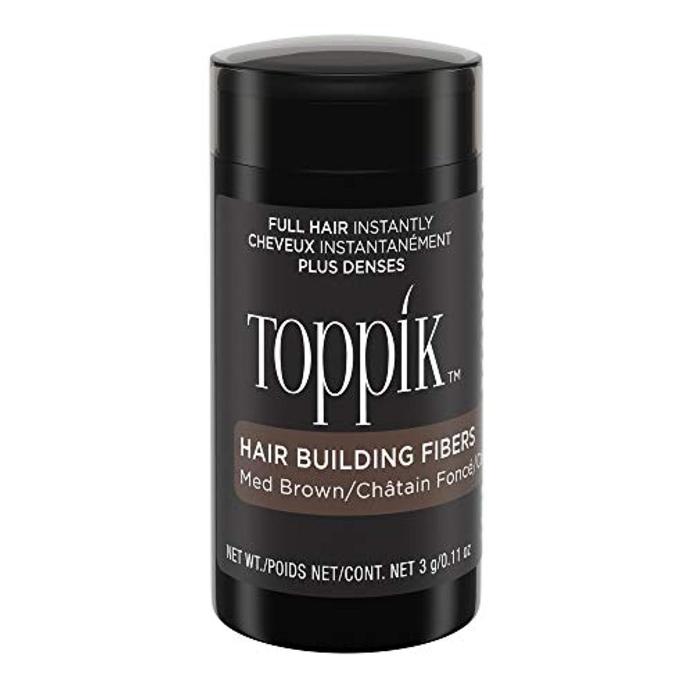 スリッパ埋める高度TOPPIK 髪のビル繊維、0.11オンス 0.11オンス ミディアムブラウン