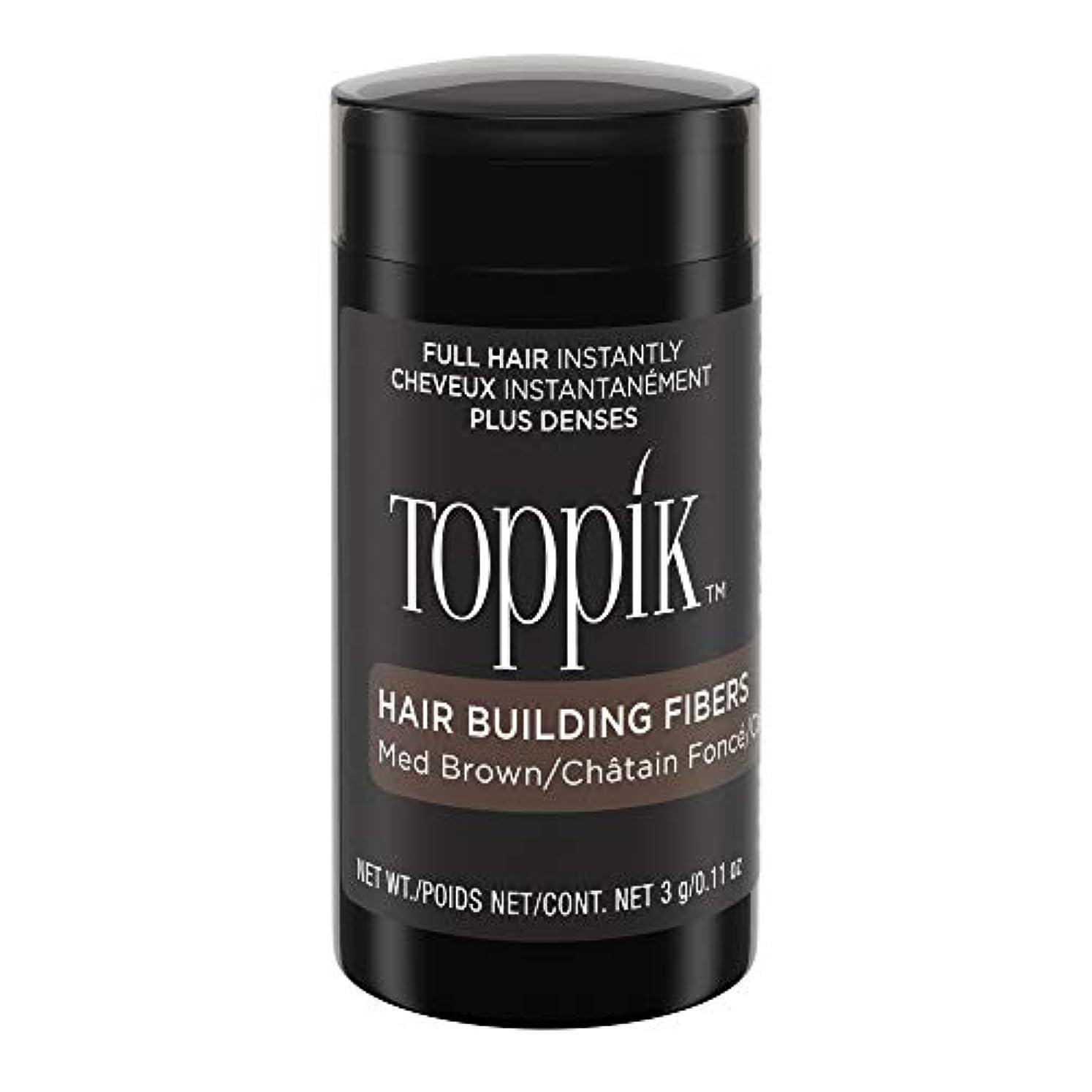 ボクシング滑りやすい打たれたトラックTOPPIK 髪のビル繊維、0.11オンス 0.11オンス ミディアムブラウン