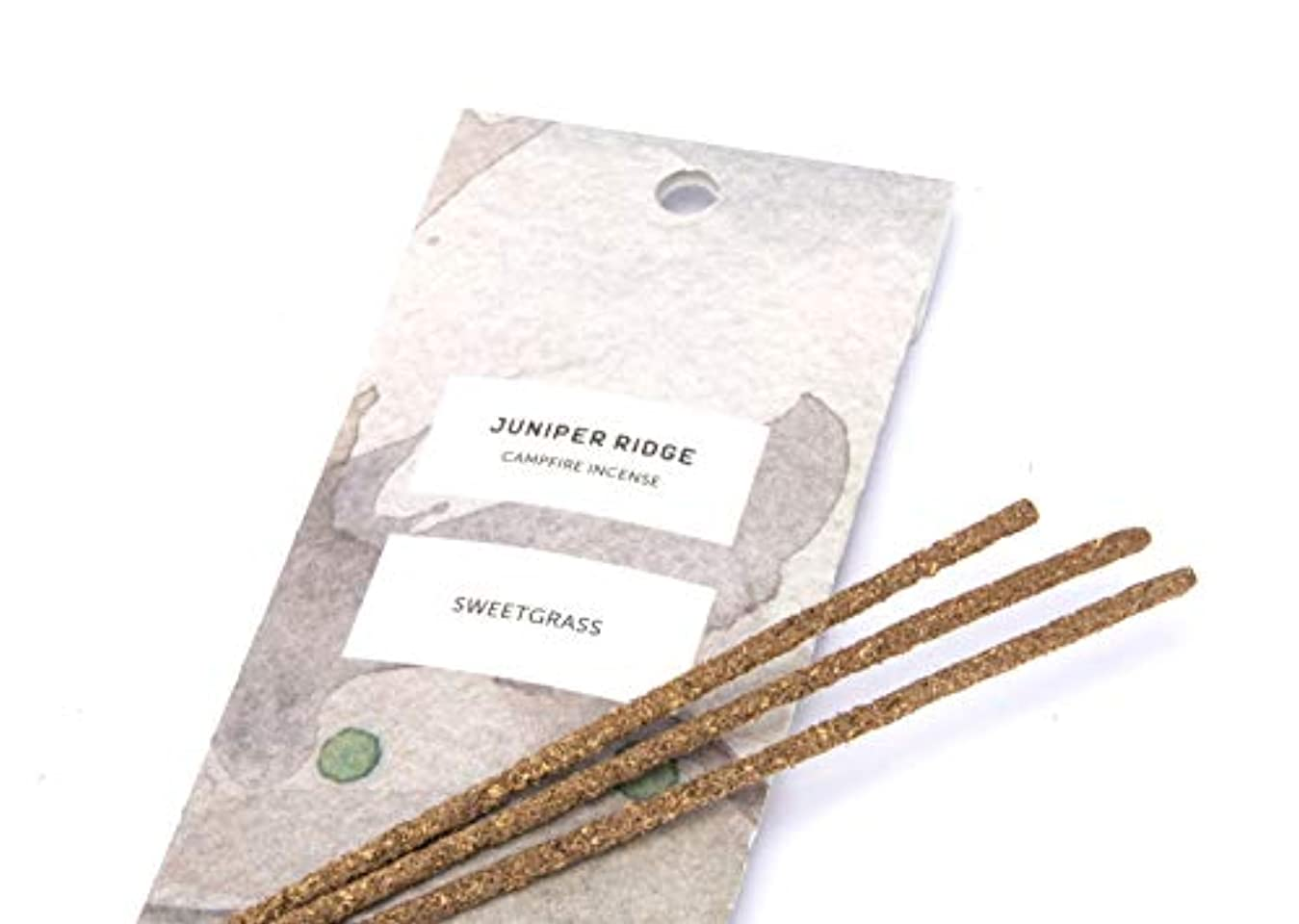 本物の泣いているラフJuniper Ridge Sweetgrass Incense